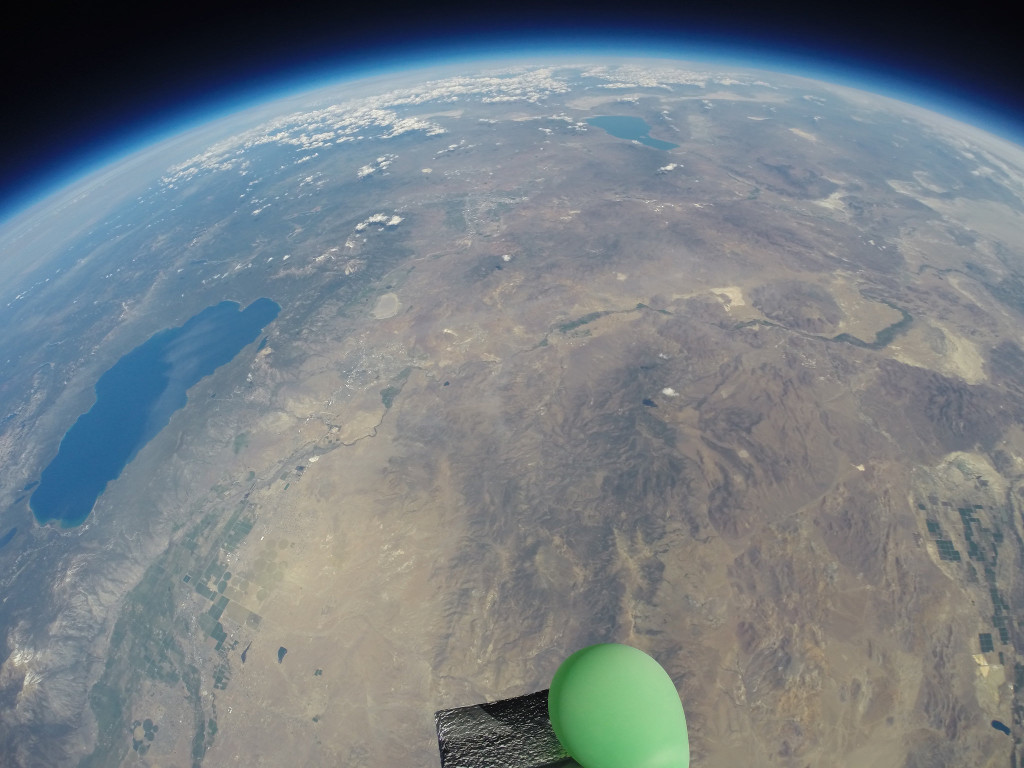 Photo taken from near space, June 2015, from the High Hopes Project balloon.