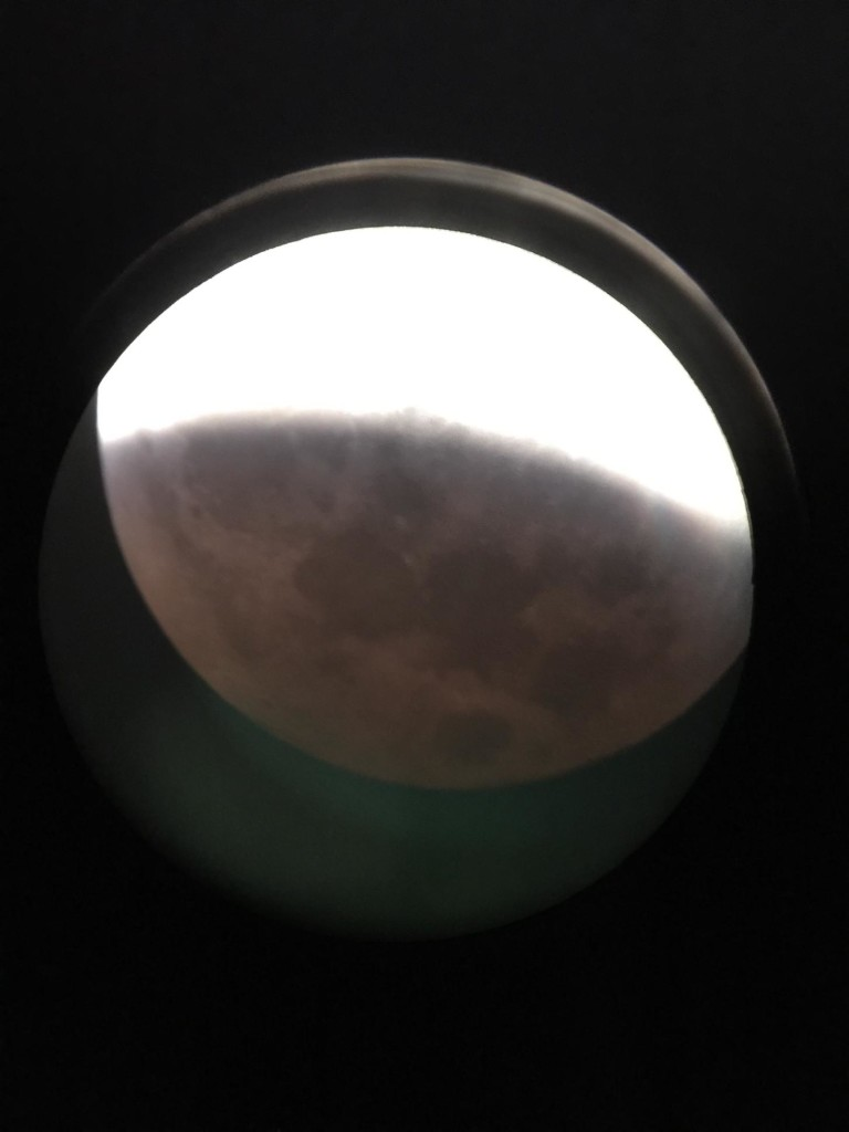 "We managed to get one that showed some of the ""Bloodmoon"""